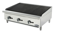 "Atosa Lava Rock Charbroiler Natural Gas - 36"" Wide (ATCB-36)"