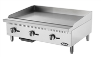 "Atosa Countertop Griddle Natural Gas with Manual Controls - 36"" Wide (ATMG-36)"