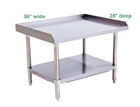 "Atosa 16-Gauge Stainless Steel Equipment Stand - 36"" wide x 28"" deep (ATSE-2836)"