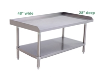 "Atosa 16-Gauge Stainless Steel Equipment Stand - 48"" wide x 28"" deep (ATSE-2848)"