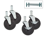 "Royal Industries Wire Shelving 5"" Stem Casters Set, (CA5 CASTER SET)"
