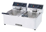 AdCraft Countertop Electric Double 15 LB Fryer, (DF-6L/2)