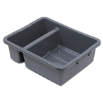 Royal Industries Divided Bus Box with Ergonomic Handle, Gray (DIN BTD03)