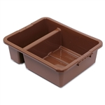 Royal Industries Divided Bus Box with Ergonomic Handle, Brown (DIN BTD04)