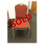 Used Burgundy Fabric Banquet Stack Chair