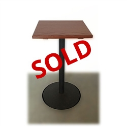 used inch solid wood square pub table  mahogany finish   - used inch square pub table with mahogany finish