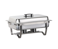 Gator Chef Economy Stainless Steel Chafer with Folding Frame - 8 Quart Capacity