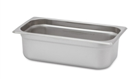 "Gator Chef 1/3 Size 4"" Deep Anti-Jam Stainless Steel Steam Table Pan - 24 Gauge (Standard Weight)"
