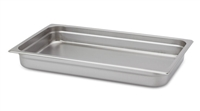 "Gator Chef Full Size 2-1/2"" Deep Anti-Jam Stainless Steel Steam Table Pan - 24 Gauge (Standard Weight)"