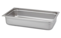 "Gator Chef Full Size 4"" Deep Anti-Jam Stainless Steel Steam Table Pan - 24 Gauge (Standard Weight)"