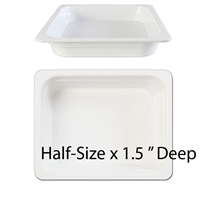 "Thunder Group Gastronorm Melamine Plastic Steam Table Pan - Half Size, 1.5"" Deep (GN1121W)"