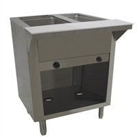 Advance Tabco 2-Well Natural Gas Steam Table with Enclosed Base - HF-2G-NAT-BS
