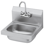 "Krowne HS-2L | 16"" Wide Wall Mount Hand Sink 