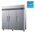Turbo Air 78-Inch (3) Door 72 Cu.Ft. Reach-In Commercial Refrigerator (M3R72-3)