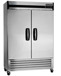 Norlake 55.25-Inch 49 Cu.Ft. (2) Door Bottom Mount Freezer, (NLF49-S)