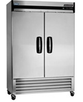 Norlake 55.25-Inch (2) Door 49 Cu.Ft. Bottom Mount Refrigerator, (NLR49-S)