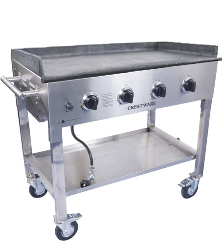 Portable Gas Grill And Griddle ~ Crestware pcg portable gas griddle propane