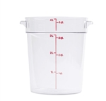 Winco Round Food Storage Container - 4 Qt., Clear