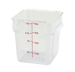 Square Food Storage Container - 8 Qt., Clear