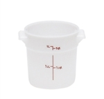 Winco Round Food Storage Container - 1 Qt., White