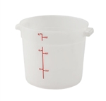 Winco Round Food Storage Container - 6 Qt., White