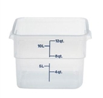 Square Food Storage Container - 12 Qt., Translucent