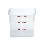 Square Food Storage Container - 6 Qt., Translucent