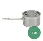 Royal Stainless Steel Sauce Pan with Lid - 6 Qt.
