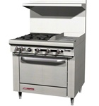 "Southbend S36D-1GL - 4-Burner 12"" Manual Griddle Standard Oven - 36"" Wide"