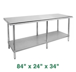 "Economy Work Table - 84"" x 24"" x 34"""