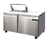 Continental 60-Inch (2) Door Sandwich Prep Table, With (8) 1/6 Size Pans, (SW60-8)