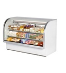 True 72-Inch Curved Glass Refrigerated Deli Case, (TCGG-72)