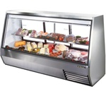 True TDBD-96-3 See-Thru Double Duty Refrigerated Deli Case