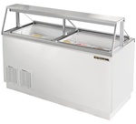 True 18.8 Cubic Feet Ice Cream Dipping Cabinet, Holds (20) 3-Gallon Cans, (TDC-67)
