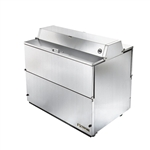 True 49-inch Forced-Air Dual Sided Milk Cooler, (TMC-49-S-DS-SS-HC)