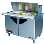 Turbo Air TST-48SD 2-Door Refrigerated Food Prep Table