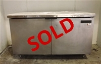 Used True TUC-60 2-Door Undercounter Refrigerator