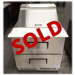 "Used True TFP-32-12M-D-2 32"" 2-Drawer Refrigerated Food Prep Table"