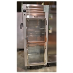 "Used Traulsen G10000B 30"" 2-Half Glass Doors Refrigerator"