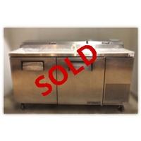 Used True TPP-67 2 Door Refrigerated Pizza Prep Table
