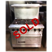 "USED - American Range 6-Burner 36"" Wide Natural Gas Range with Standard Oven (AR-6)"