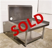 "USED - Heavy Duty Stainless Steel Equipment Stand 36"" Wide, w/High Backsplash"