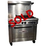 "USED - Southbend X336D-1GL 4-Burner with 12"" Griddle Restaurant Range 36"" Wide - Natural Gas"