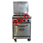 "USED - Tri-Star 4-Burner Restaurant Range 24"" Wide - Natural Gas (TSR-4)"