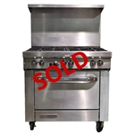 "USED - Southbend S36D 6-Burner Restaurant Range with Standard Oven 36"" Wide - Natural Gas"