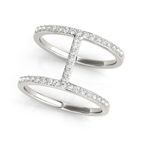 T Stack Diamond Fashion Ring 3/8ctw.