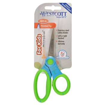 Microban 5 Inch Pointed Ultra Soft Handle Scissor, ACM14597