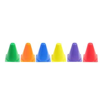 "Rigid Plastic Cones 6"" Set Of 6, AEPYTB018"