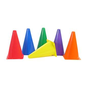 "Rigid Plastic Cones 9"" Set Of 6, AEPYTB019"