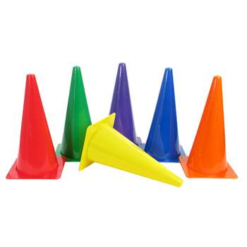 "Rigid Plastic Cones 15"" Set Of 6, AEPYTB021"